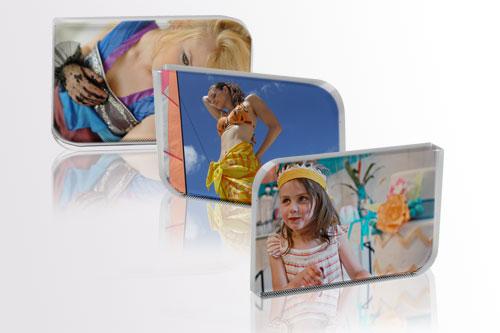 Porta-retrato Bloco de Cristal Retangular Curvado Personalizado
