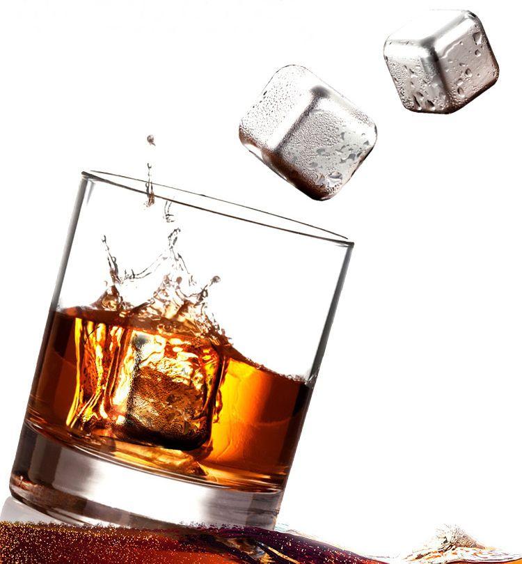 Cubo de Gelo de Aço inoxidável gela Vinho Cocktail Uísque Cerveja para Bar