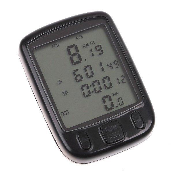 Display LCD computador de bordo 24 funções à prova d'água ciclismo bicicleta odômetro velocímetro