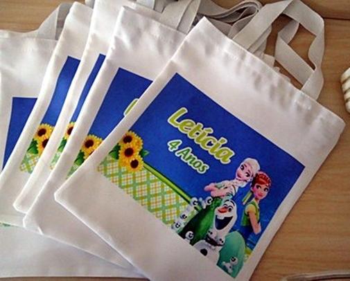Ecobag Sacola Ecológica Sustentável G Personalizada com foto