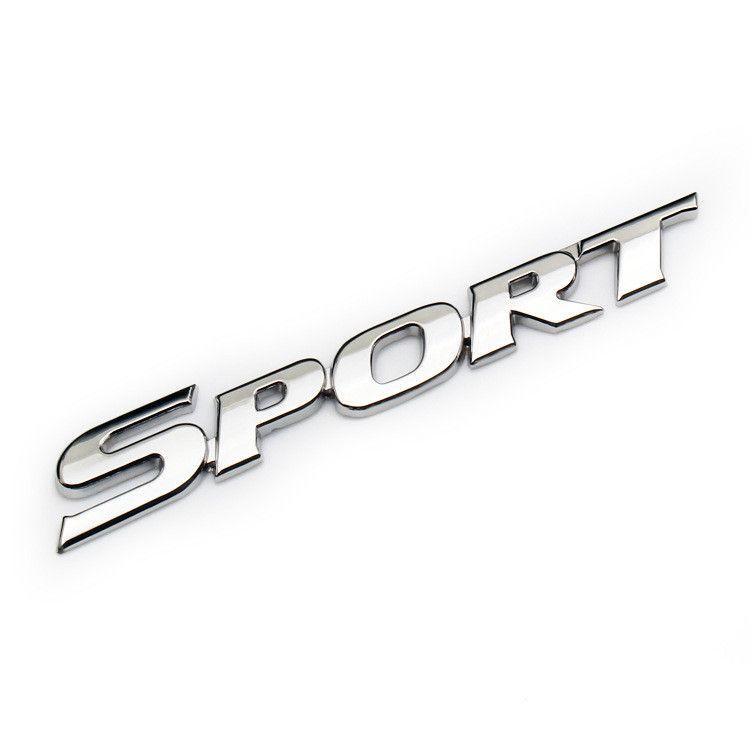 Emblema 3D Adesivo Cromo SPORT  para Carro Decalque Auto Acessórios