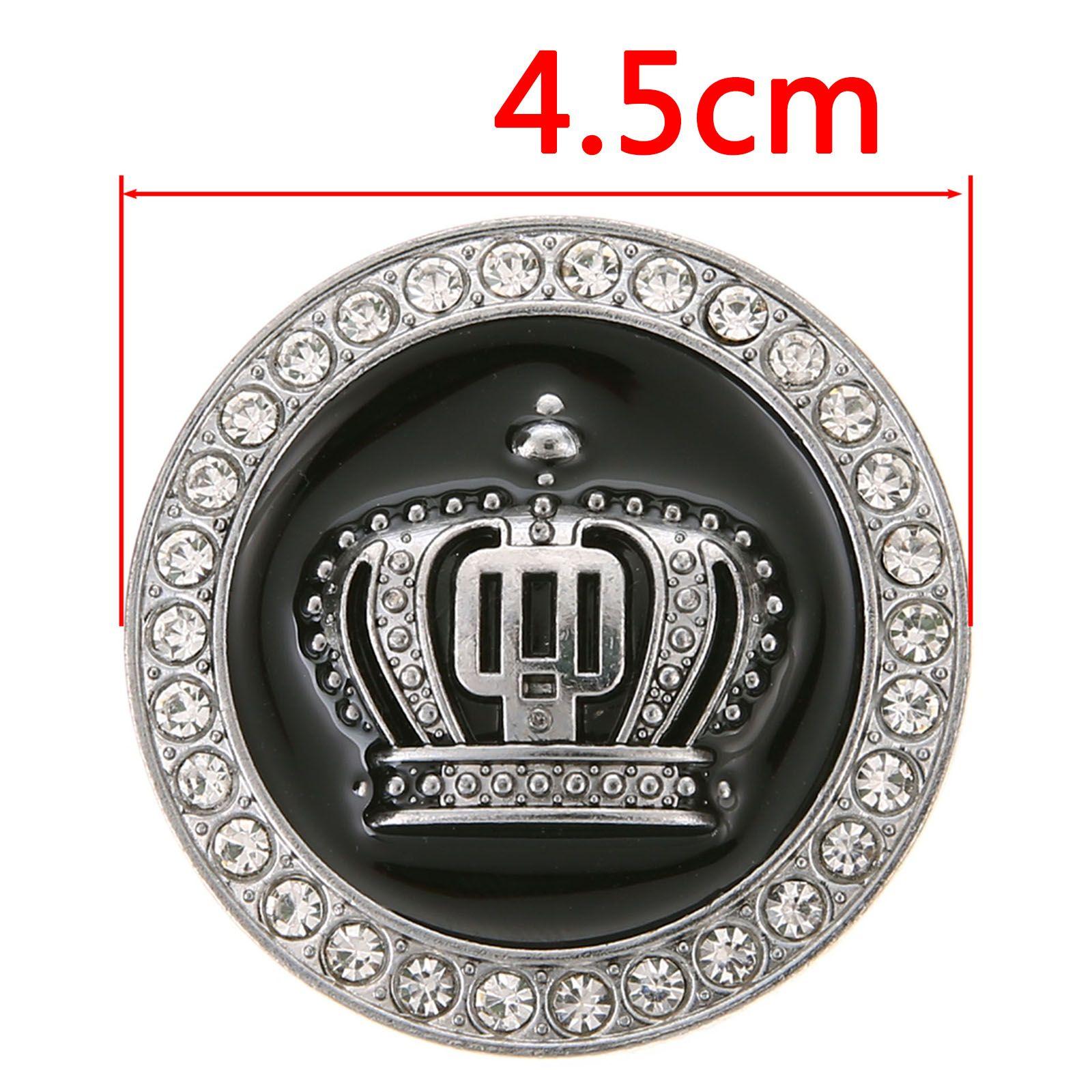 Emblema 3D Coroa de Metal Brilhantes Decoração Adesivos de Carro Auto