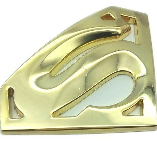 Emblema 3D Símbolo Superman em metal Carro Motocicleta