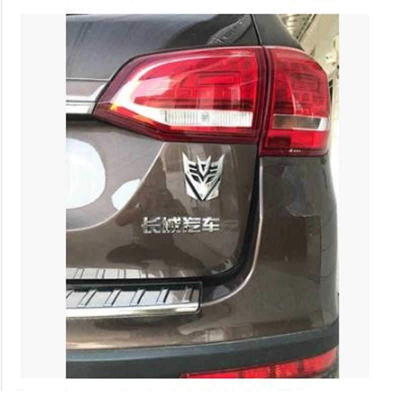 Emblema 3D Transformers Decepticon Adesivos de Carro Automóvel