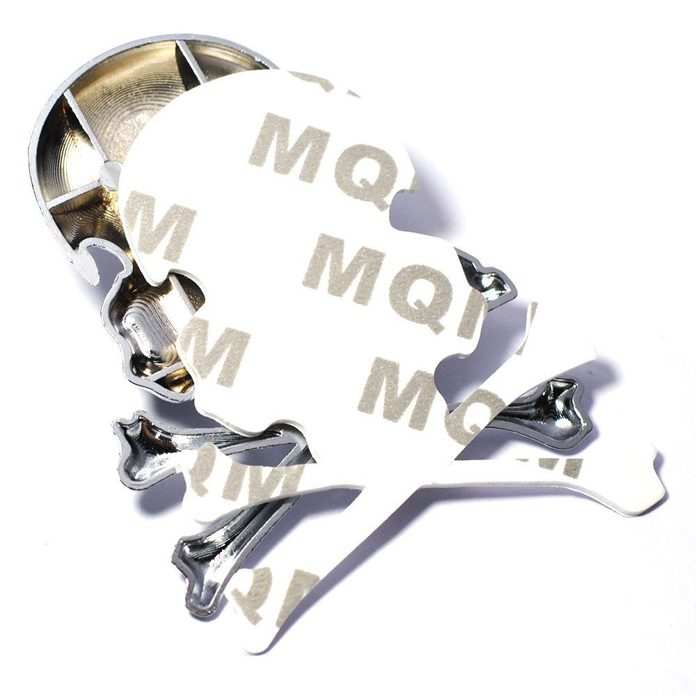 Emblema Adesivo 3D Caveira Crânio de Metal para Carro Caminhão