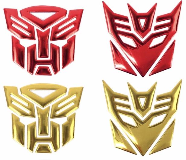 Emblema Transformers 3D de Carro etiqueta cola 3M motocicleta