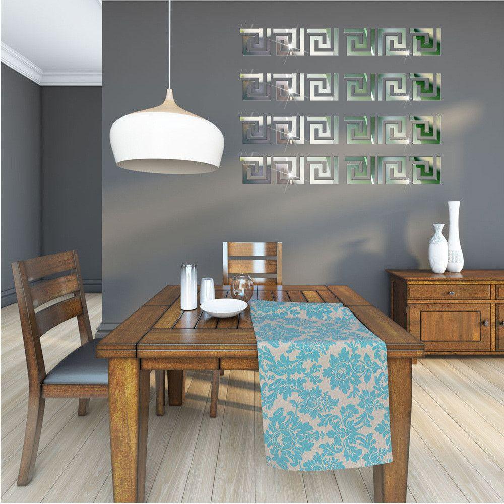 Espelho Acrílico Adesivos de Parede com 10 pçs Arte Labirinto para Decorar Decoração do Lar Casa