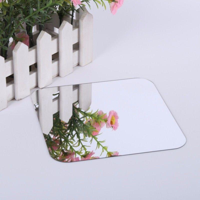 Espelho Adesivos de Parede 3D 6 pçs DIY Quadrado com cantos Arredondados