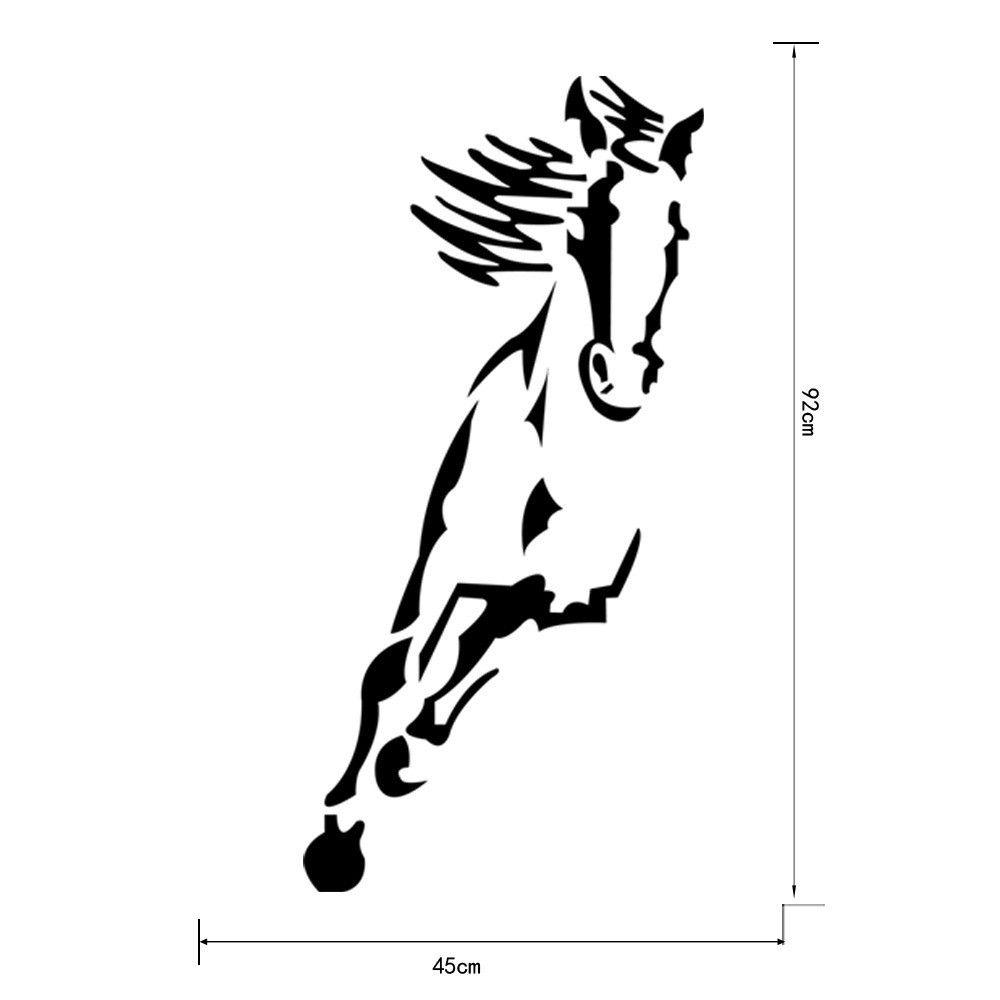 Espelho de parede adesivo acrílico 3D Cavalo Corcel decoração Casa