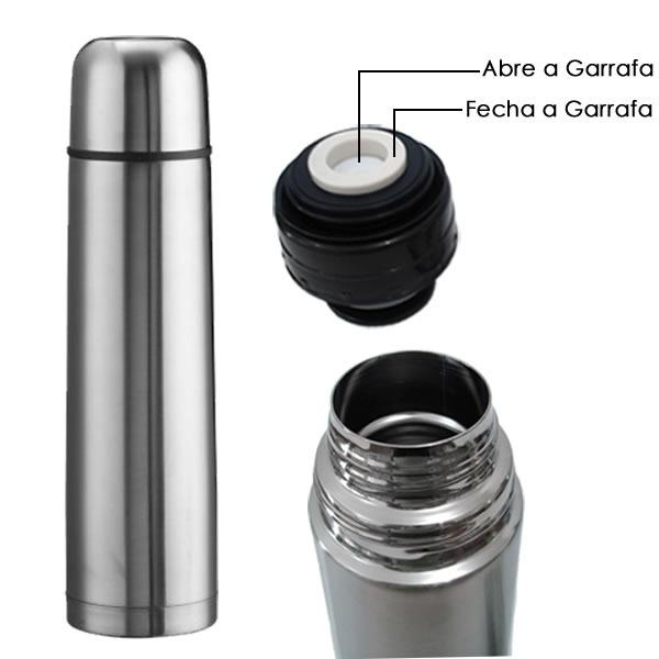 Garrafa Térmica Inox Personalizada com foto Logo Imagem Nome