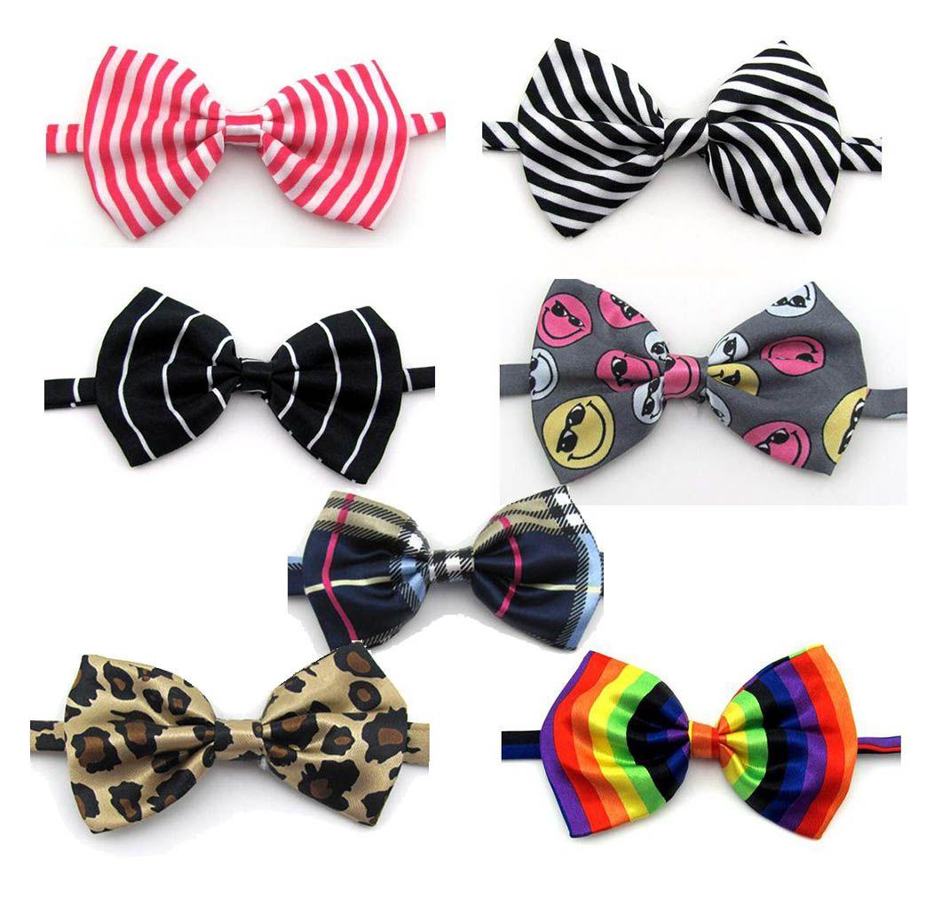 Gravata borboleta Estampada para gato e filhote de cachorro cão Bebê Pet 3 unidades