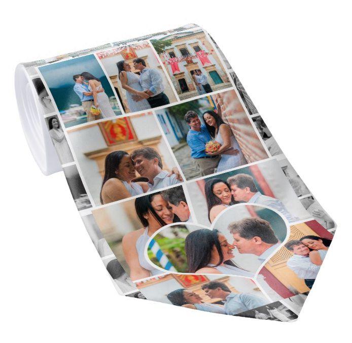Gravata Personalizada com Foto logo ou tema para casamento