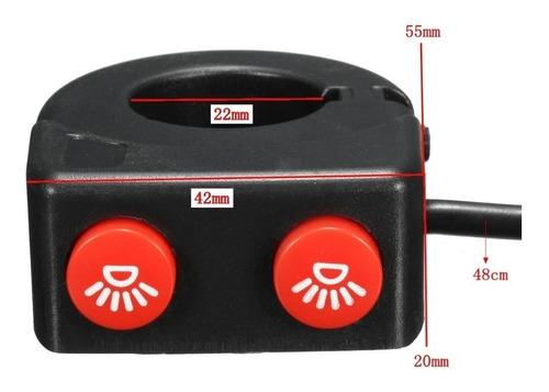 Interruptor Duplo Botão Botões Chave Farol De Milha Led Moto U5 U7 U9 Zem