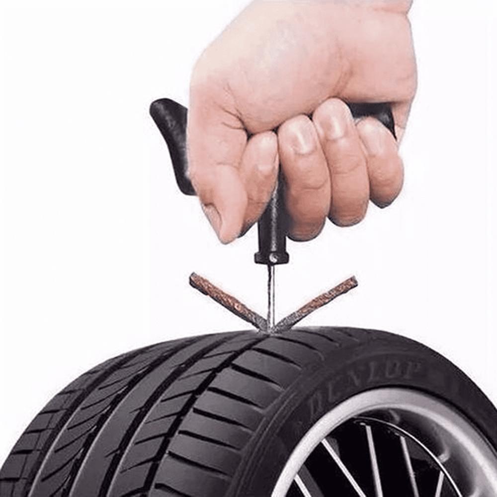 Kit Reparo Pneu Profissional Remendo Sem Câmara Carros Motos Macarrão