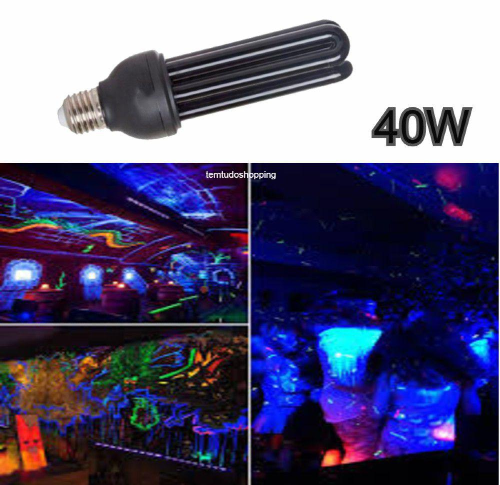 Lâmpada Luz Negra 40W Efeito Neon Energia UV Fluorescente Longa Duração