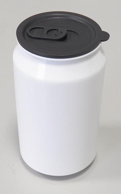 Lata / Latinha de Refrigerante Branca 350ml Resinada para Personalizar por Sublimação