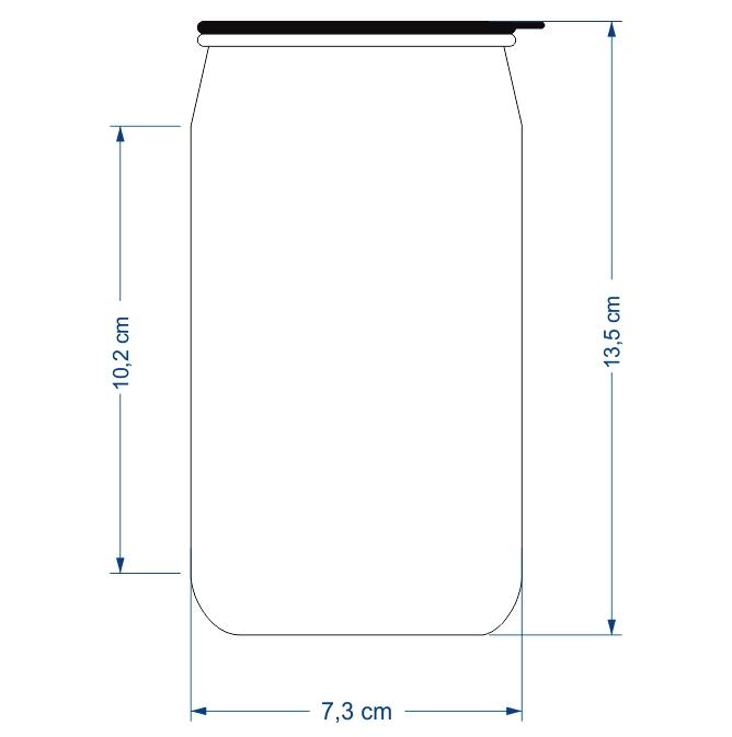 Lata / Latinha de Refrigerante em Alumínio Branco Tampa Deslizante 350ml Personalizada