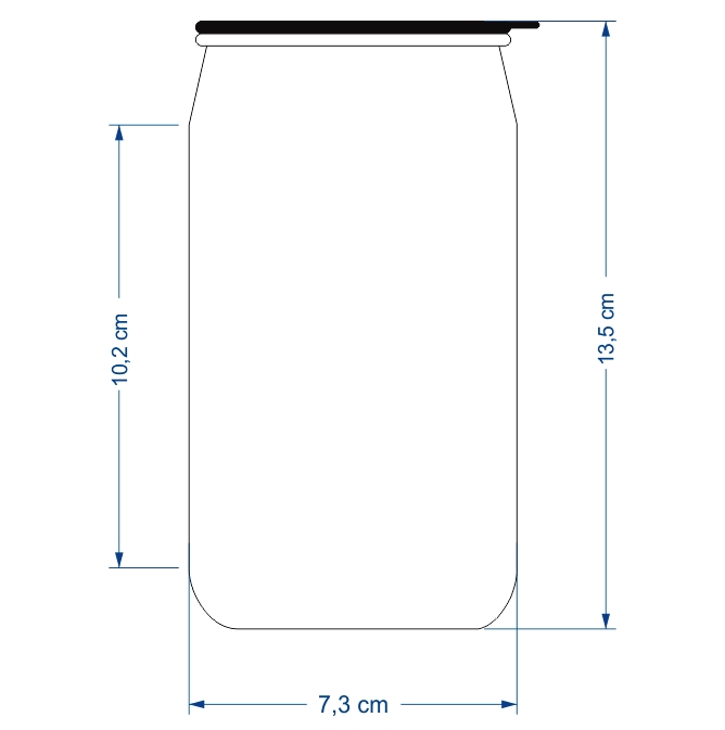 Lata / Latinha de Refrigerante em Alumínio Tampa Deslizante 350ml Personalizado