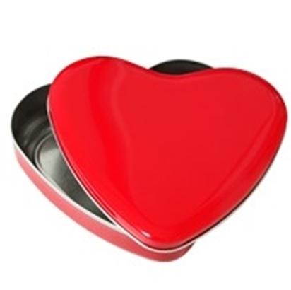 Latinha Coração Metálica Vermelha com tampa Personalizada com foto