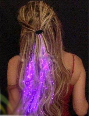 LED Decoração de Cabelo Trança de Fibras Óticas Luz Festa