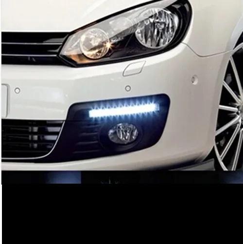 LED Luz de Circulação Diurna para Carro Segurança Notável Par Adesivo Acessórios para Carros