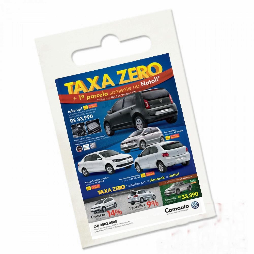 Lixeirinha para Carro / Lixocar 17 x 25cm Personalizada 5unid com logo propaganda