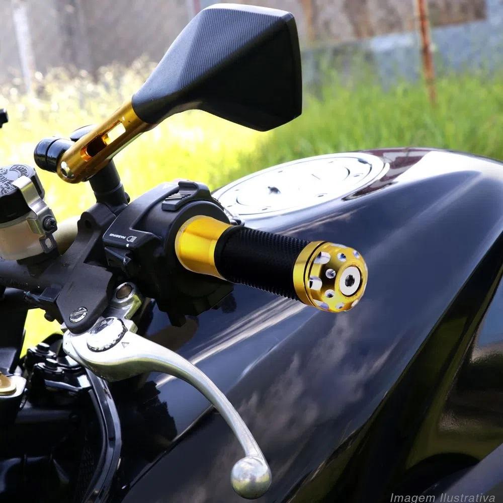 Manopla Punho Moto Esportiva Alumínio CB 300 Cb Twister Strada Viper Snake