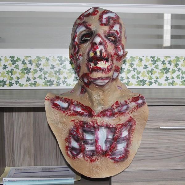 Máscara Assustadora Resident Evil Zumbi Adulto de Látex Halloween Carnaval