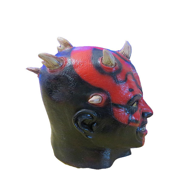 Máscara do Darth Maul de Star Wars Terror de látex cabeça inteira carnaval Halloween