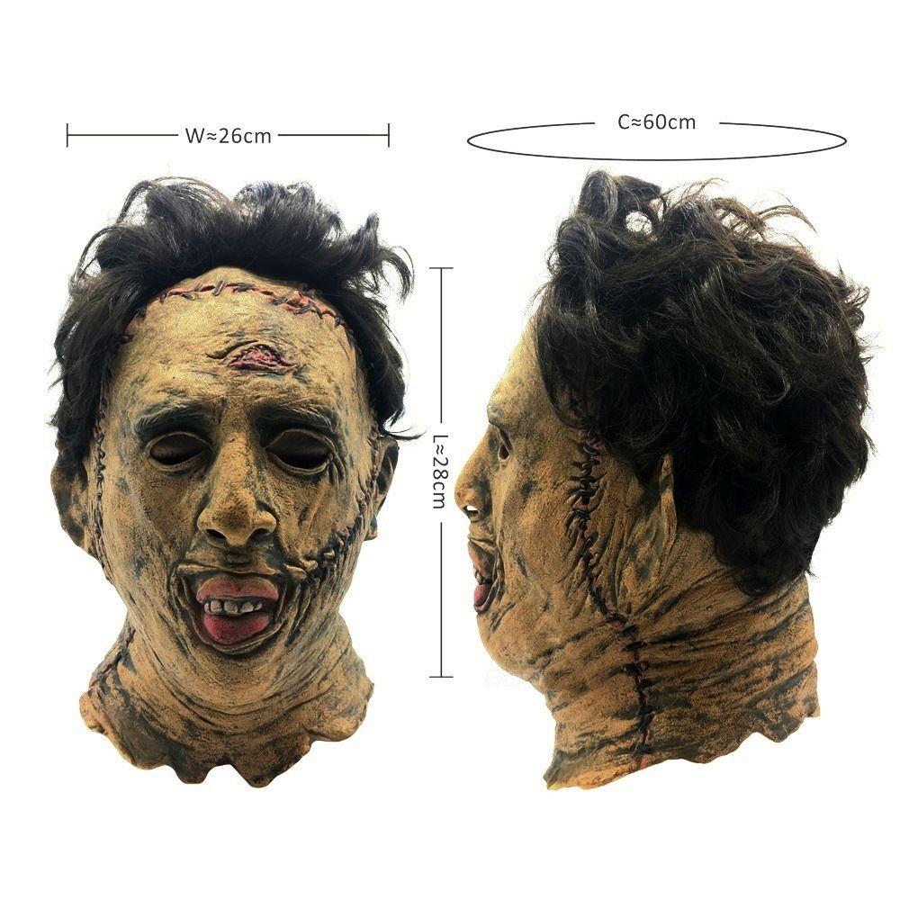 Máscara Filme O Massacre da Serra Elétrica Cosplay Halloween de Látex Assustador
