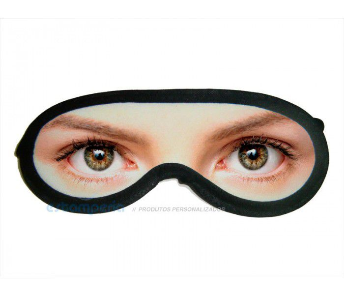 Máscara para dormir tapa olhos de Neoprene Personalizada com foto