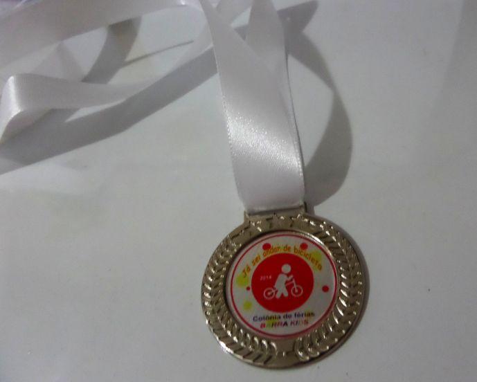 Medalha Olímpica Ouro / Prata / Bronze 3 unidades 5cm com Cordão Personalizada