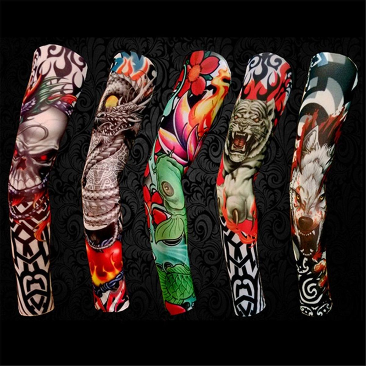 Meia Tatuagem de braço ou perna Manguito Proteção solar e estilo Tattoo