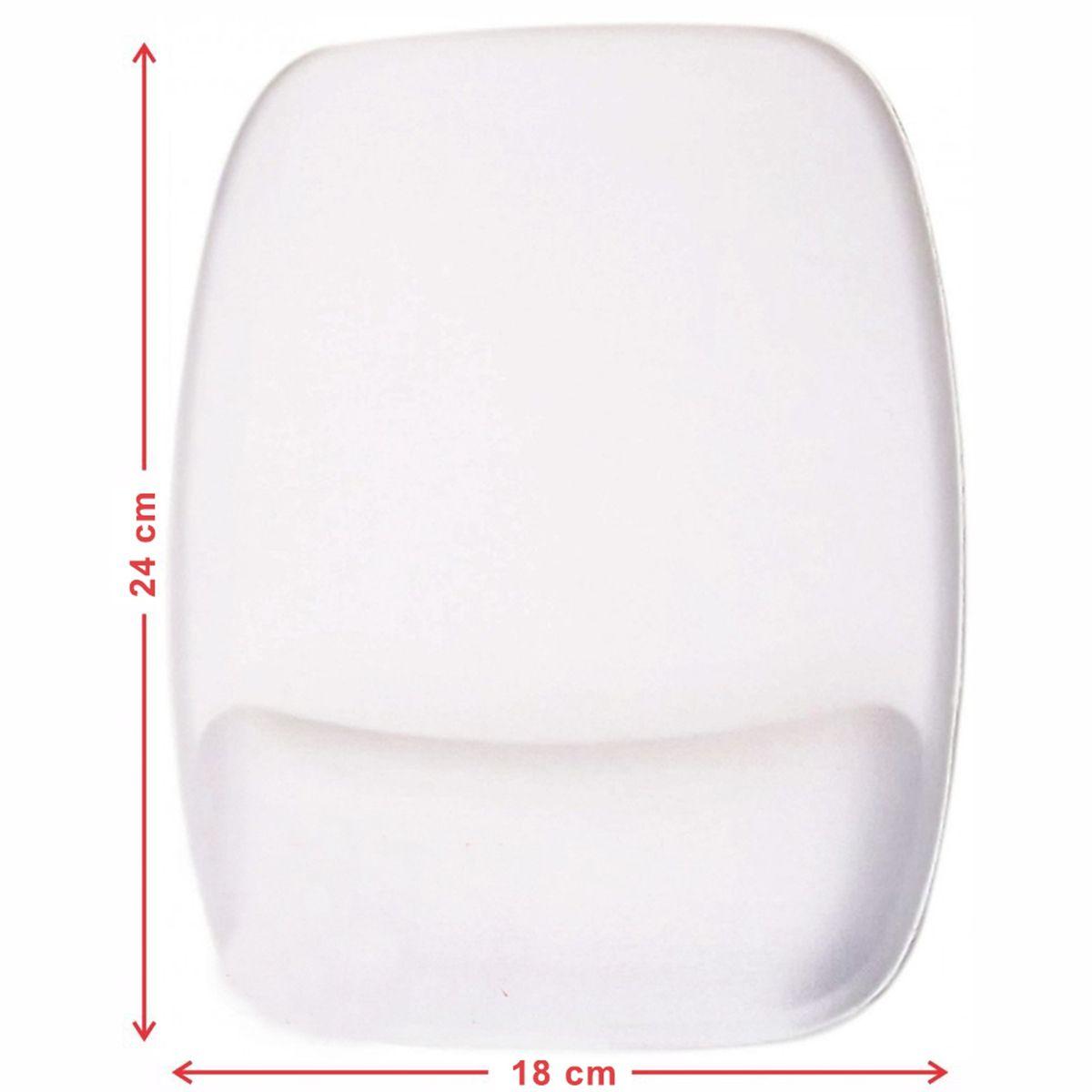 Mouse Pad com Apoio Retangular Ergonômico liso para Personalizar por Sublimação