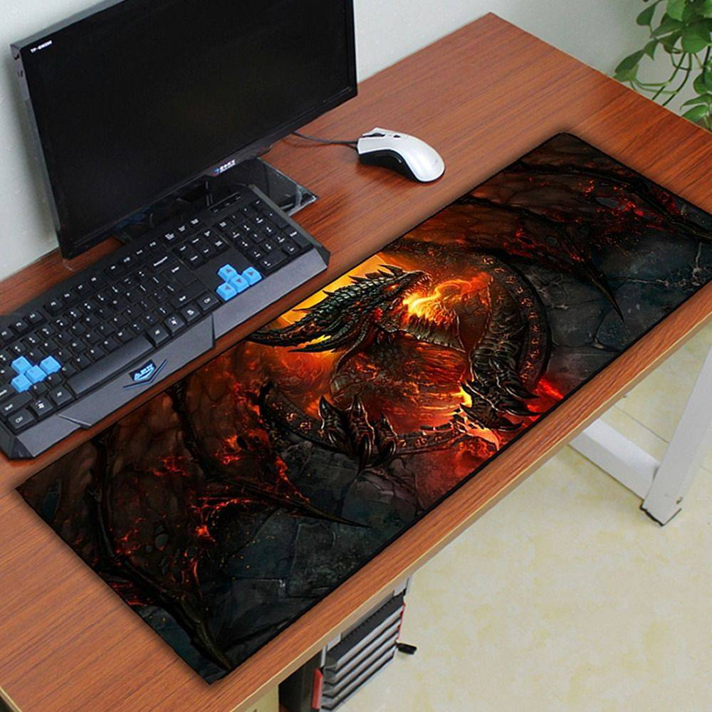 Mouse Pad Gamer Mat Gigante 80cm x 30cm x 3mm Costurado