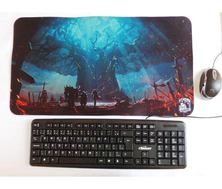 Mousepad Gigante Gamer 55x30cm Personalizado tema Jogos Anime fotos