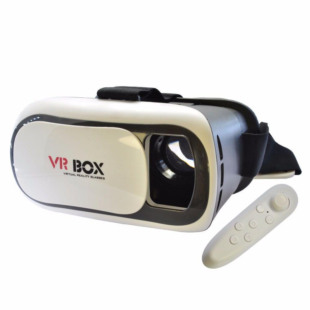 Óculos VR Box 2.0 Realidade Virtual 3D com Controle Bluetooth