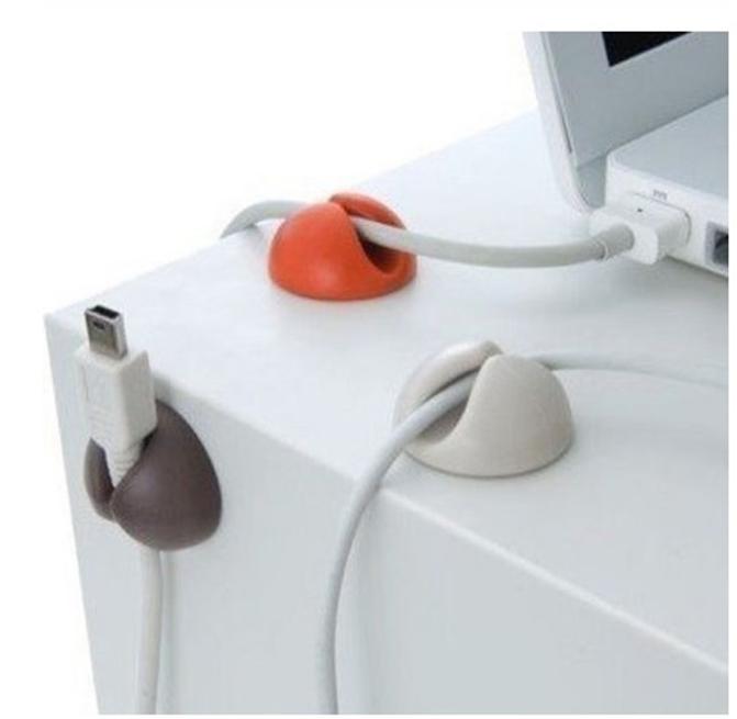 Organizador de cabos de computador TV 6 pcs tipo gota cor aleatória