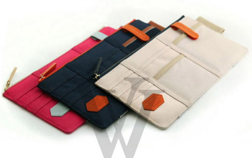 Organizador para carro Porta objetos vários bolsos Azul 27cm