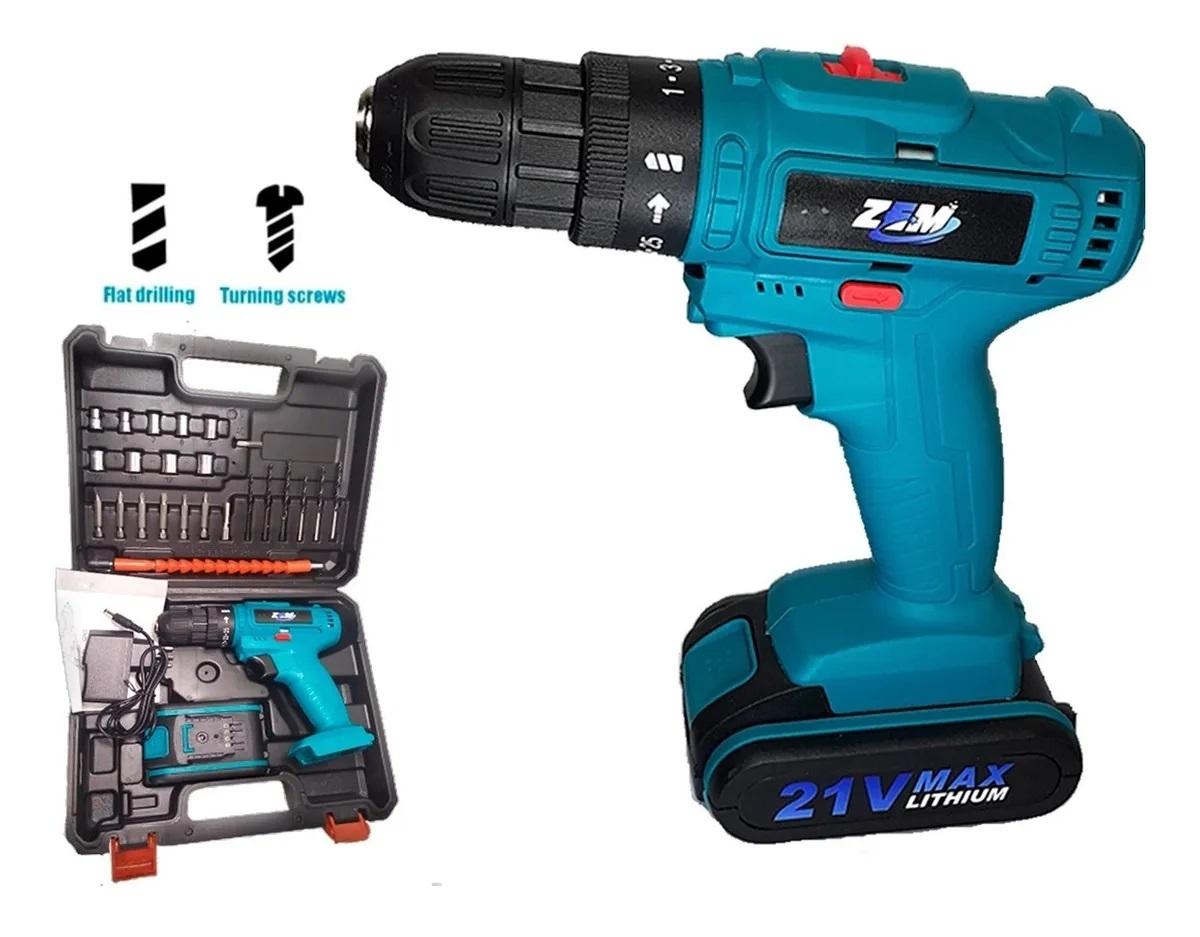 Parafusadeira e furadeira 21V Max Lithium Zem Modelo ze-0247