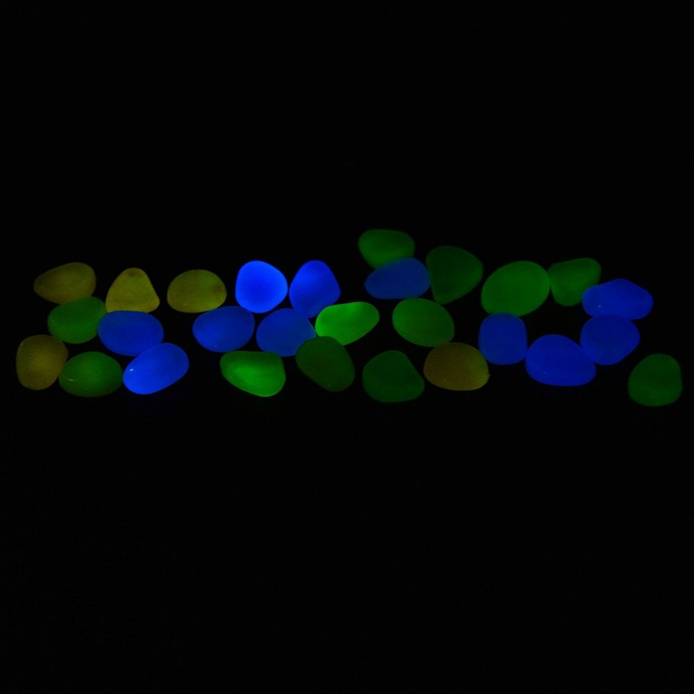 Pedra luminosa Fluorescente decorativa que brilha no escuro
