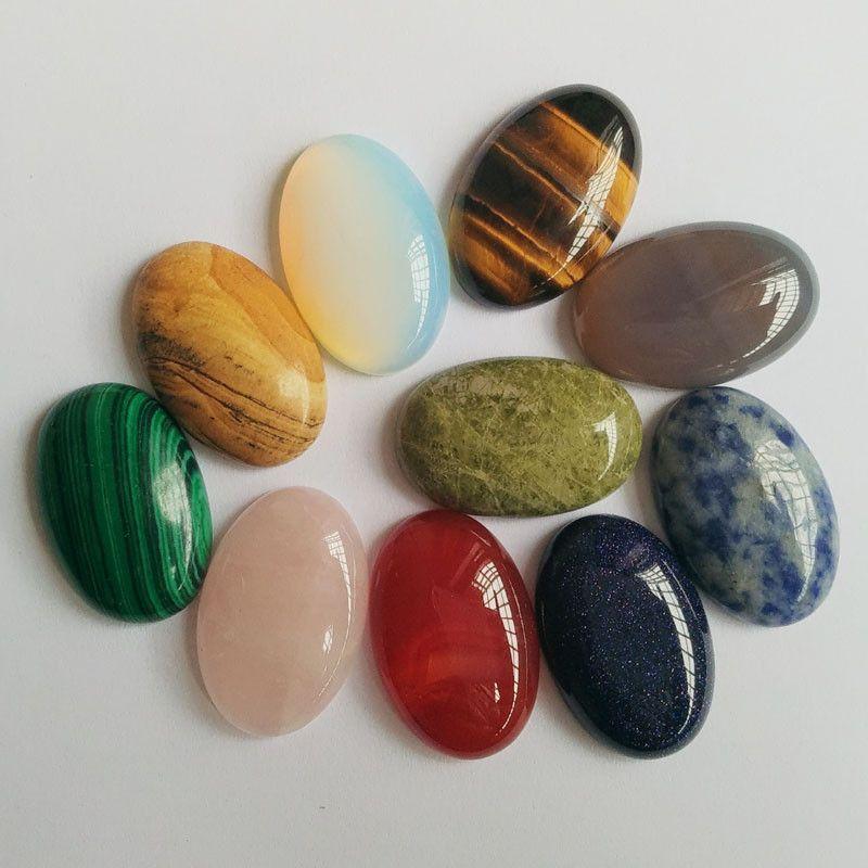 Pedra Natural Oval 20x30mm Polida Brilhante para Cabochão Pingentes Jóias