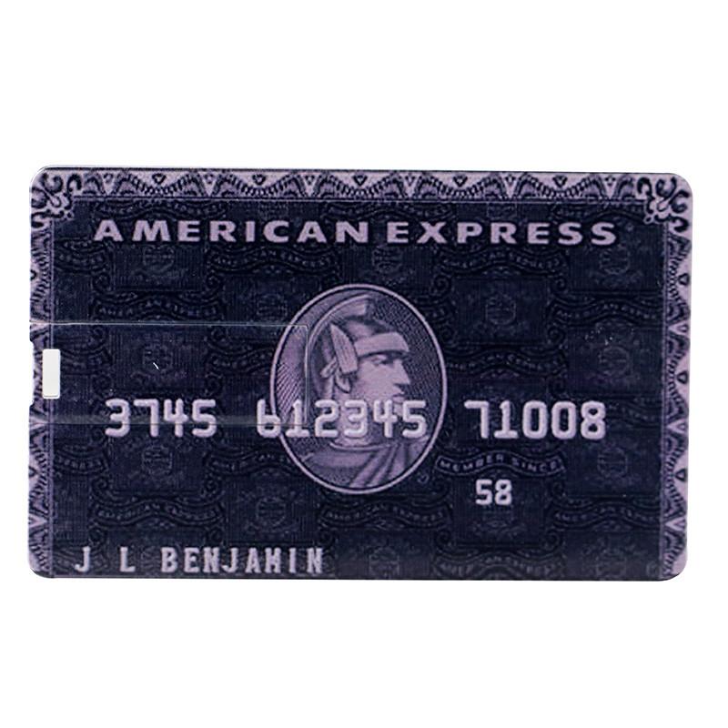 Pen Drive Forma Cartão de Crédito Capacidade 4 GB USB Memória