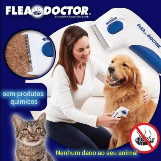 Pente Elétrico para Matar e Remover Pulgas e carrapatos de Cachorros e gatos Anti-pulgas Flea Doctor cuidado com seu Pet