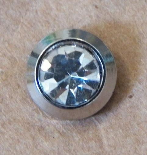 Piercing para decorar 2 unid Chinelo Pedra Cristal Pequena Oktant Swarovski