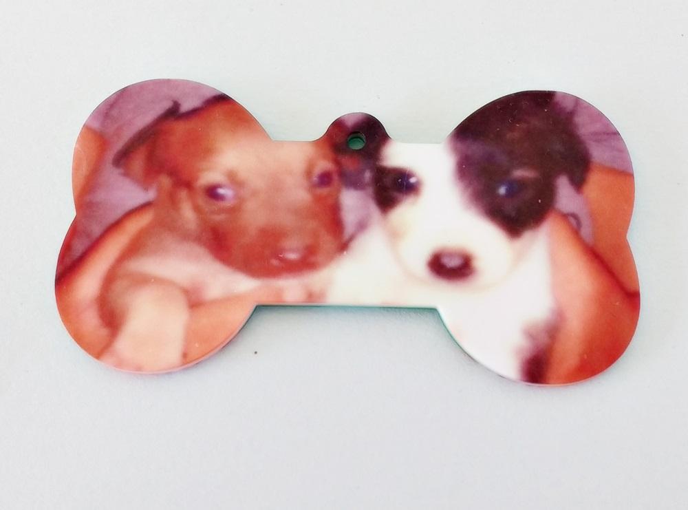 Pingente para Coleira Ossinho de Cachorro Dog Tag Personalizado
