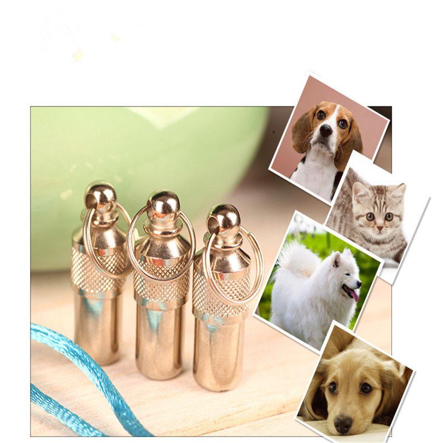 Pingente Tubinho Anti-Desaparecimento Cachorro ou Gato Pet Identificação DogTag