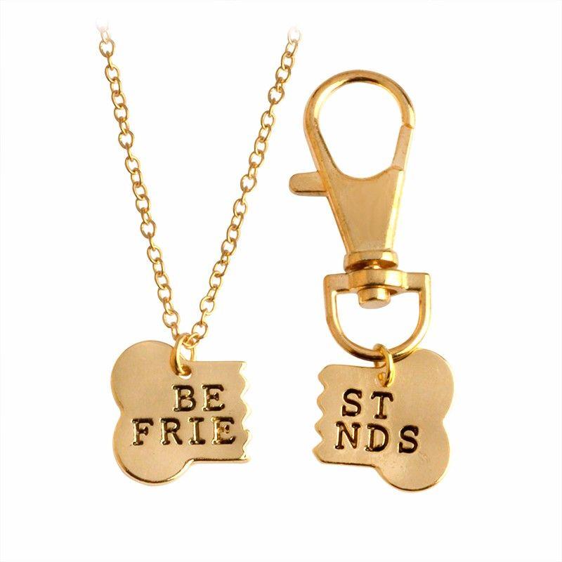 Pingentes Ossos Amizade Melhores Amigos Best Friends Cão BFF
