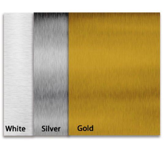 Placa/Chapa de Aço 20x30cm Prateada/Branca/Dourada Personalizada com foto Texto