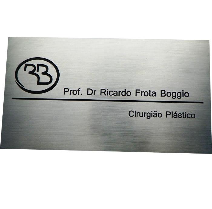 Placa/Chapa de Aço Prateada Personalizada Diversas Medidas